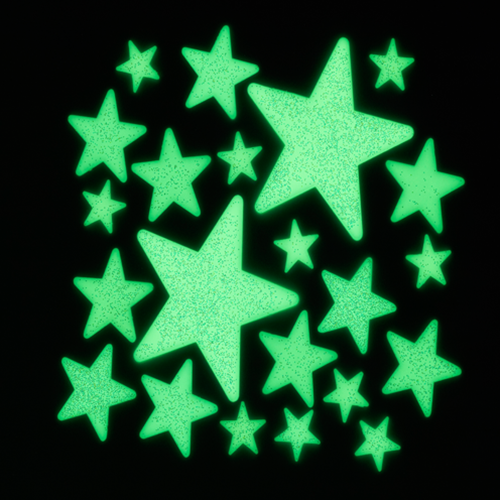 glow in the dark glitter stars